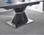 Filippo Extending Grey Italian Ceramic Marble Top, Matte Black Base Stand Dining Table with 4 or 6 Chairs