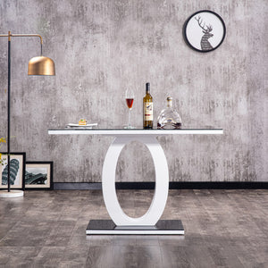 Open image in slideshow, GUILIA | Gloss Finish Tempered Glass Table Top Dining Set | With 4 Chairs | Colours: Black & Grey |