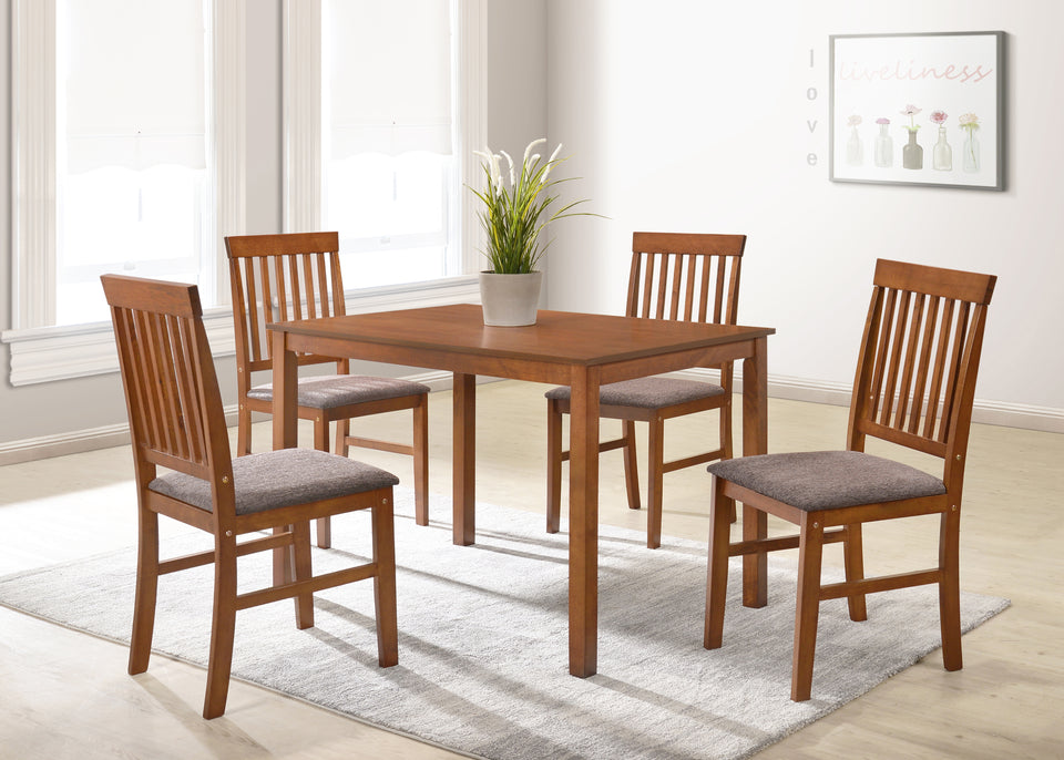 Marvelous Modernique Logan Wooden Dining Sets With Cushion Seat 4 Chairs Solid Wooden Chairs Table Frame And Mdf Top Caraccident5 Cool Chair Designs And Ideas Caraccident5Info