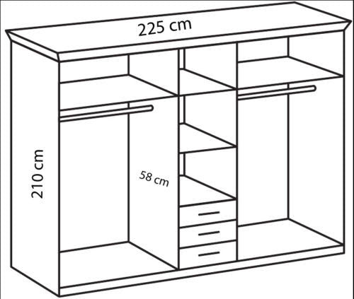 German Made Wardrobe shelf in 45 cm and 90 cm Pack of 2