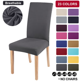 1/2/4/6/8pcs Solid Color Chair Cover Spandex Stretch Elastic Slipcovers Chair Covers For Hotel Kitchen Dining Room Banquet