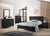 ROMANTICO | Black Fabric Bedroom set | Consists of Bed, Dresser, Mirror and Bedside |