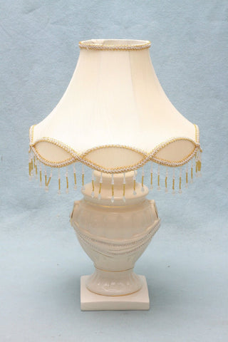 Fayre Cream-Gold, Black-Gold Lamp with Diamante and 16