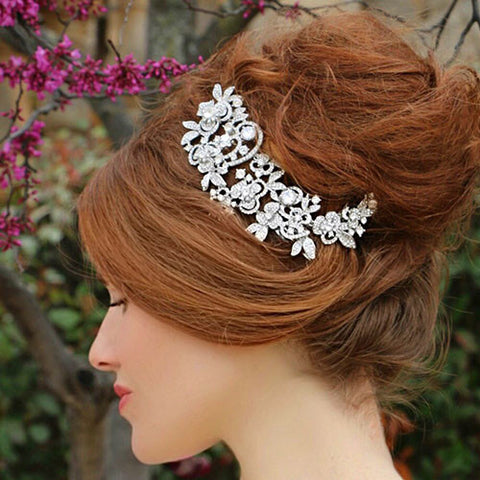 Silver and Cubic Zirconia Hair Accessory