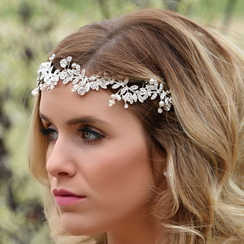 Silver and Rhinestone/Pearl Headdress