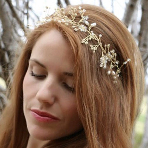 Gold and Crystal/Pearl Headdress