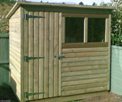 Loglap Cladding Shed Ruby UK