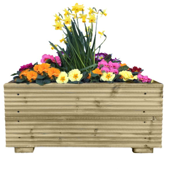 Large Decking Wooden Garden Planter