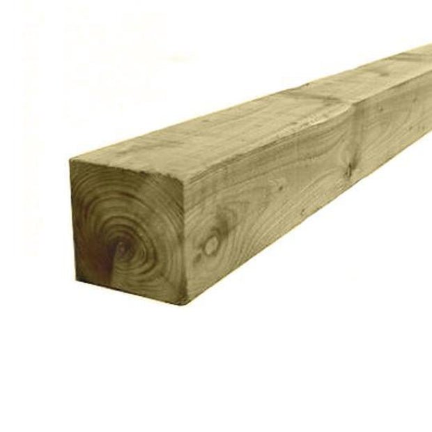 "3"" x 3"" Square Treated Fence Posts - Ruby UK"