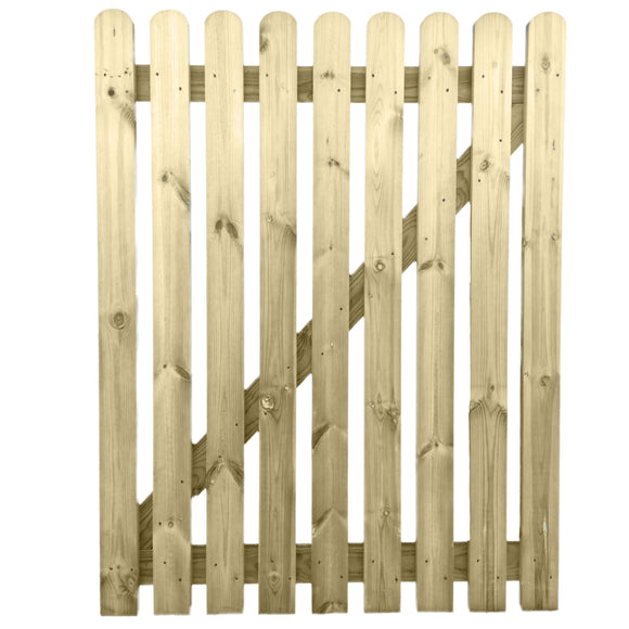 4ft x 3ft Treated Wooden Picket Garden Gate - Ruby UK