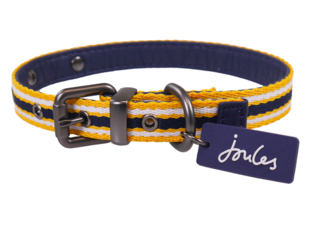 Joules Coastal Dog Collar - Various Sizes & Adjustable Comfort