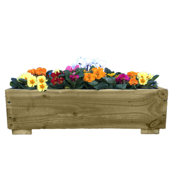 Handmade Rustic Wooden Planter - Ruby UK