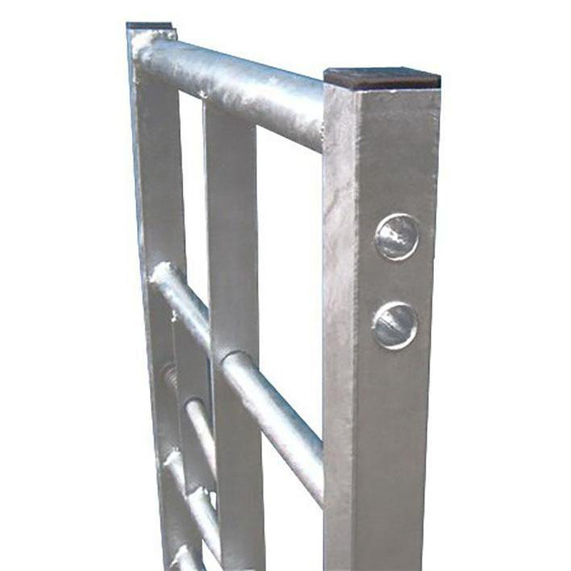 7 Bar Galvanised Metal Gate - Ruby UK