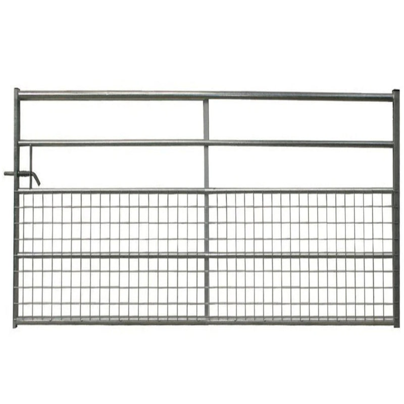 5 Rail Half Meshed Metal Gate