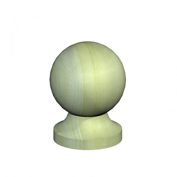 Softwood Ball Post Cap & Base - Ruby UK