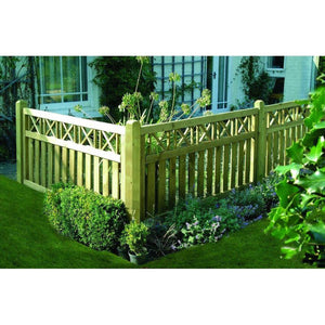 Elite Cross Top Fence Panel - Ruby UK