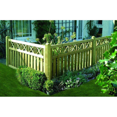Elite Cross Top Fence Panel