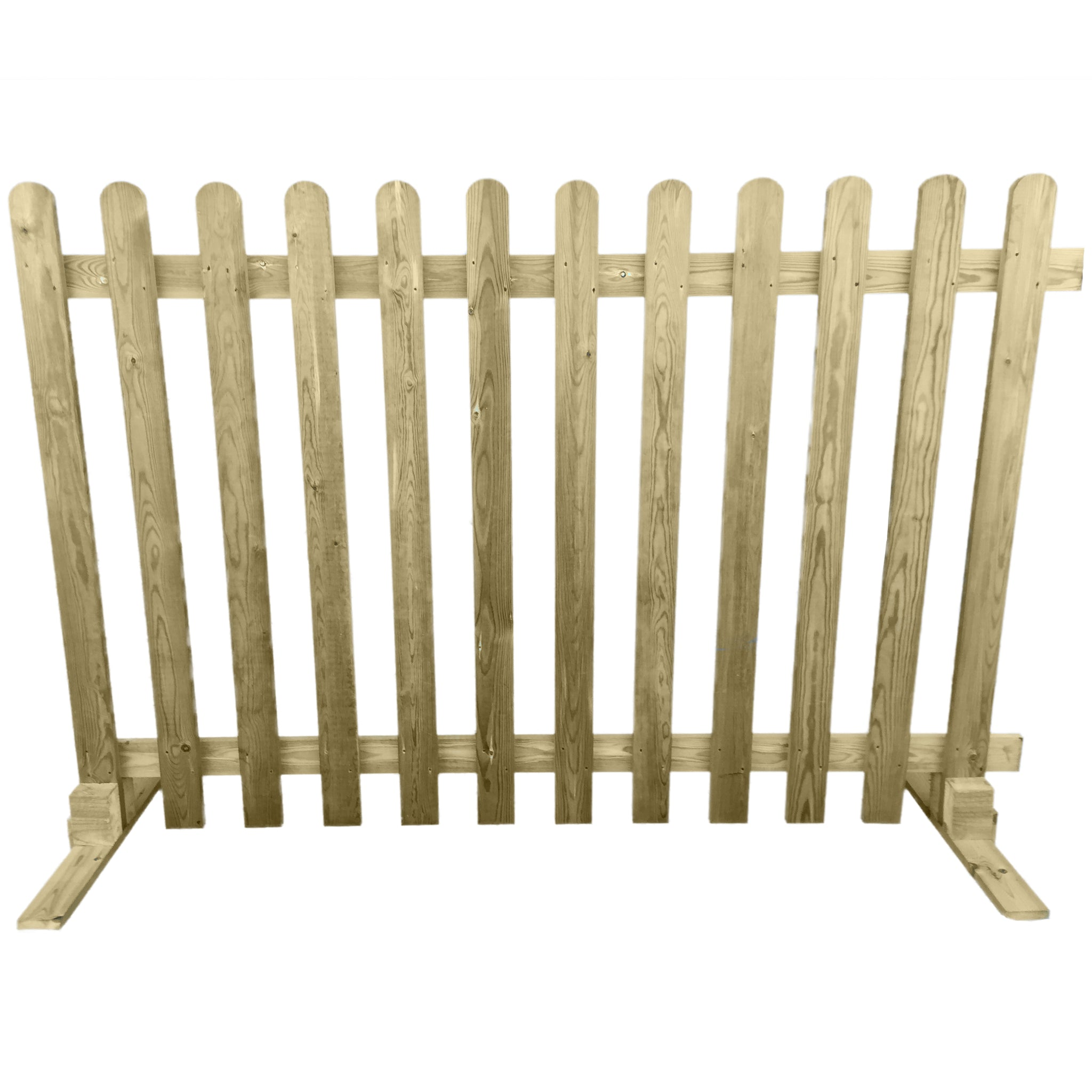 Portable Freestanding Picket Fence Panel Wooden 6ft Ruby