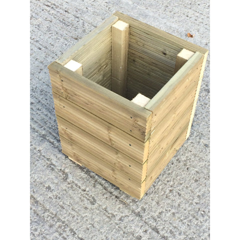 Large Square Decking Wooden Garden Planter / Storage Box / Seat 400mm wide