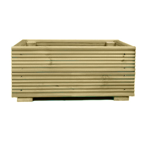 Large Decking Wooden Garden Planter 0.6M (2ft) 1.2M (4ft) or 1.8M (6ft) - Ruby UK
