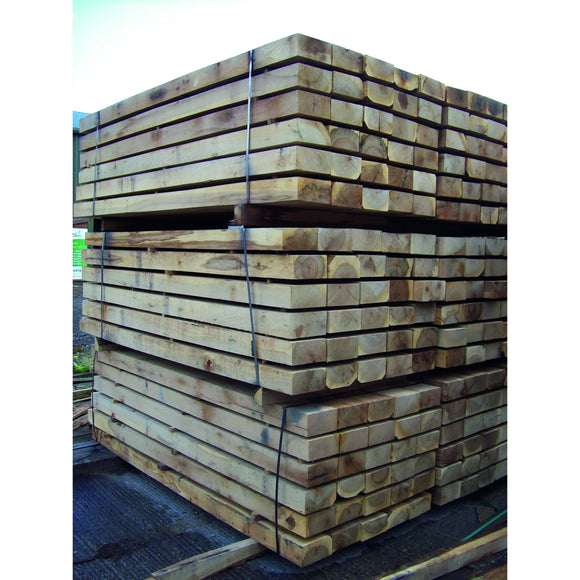Oak Sleepers 2.4m 100mm x 200mm - Ruby UK