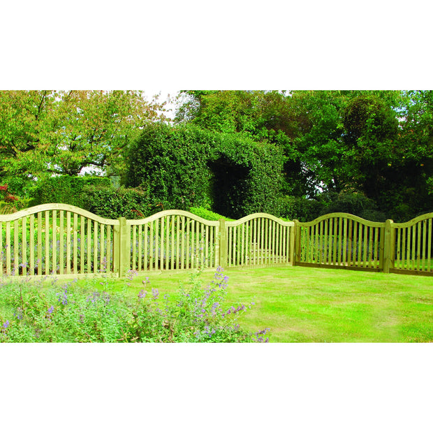 Omega Border Wooden Fence Panel - Ruby UK