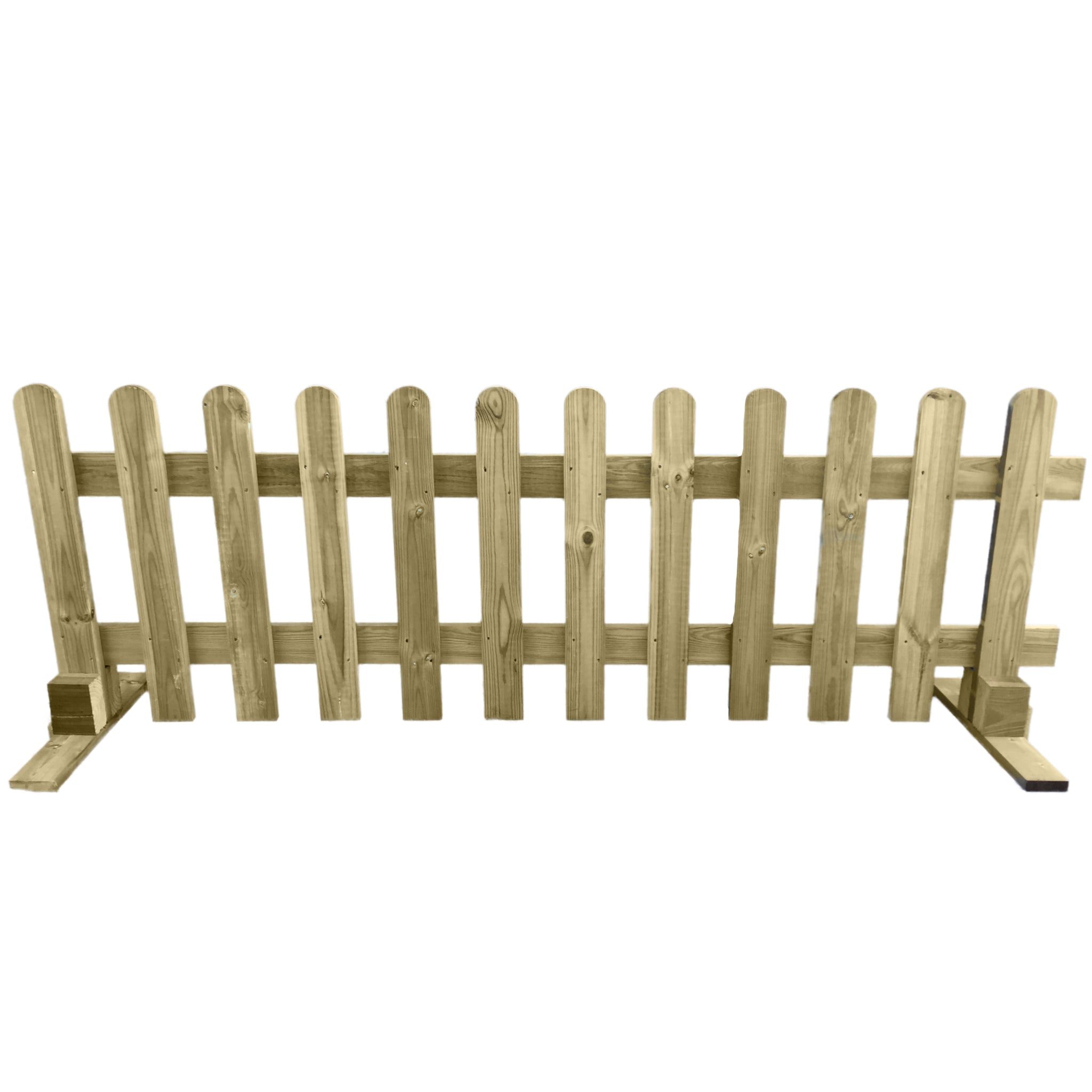Portable Freestanding Picket Fence Panel Wooden 6ft | Ruby Group