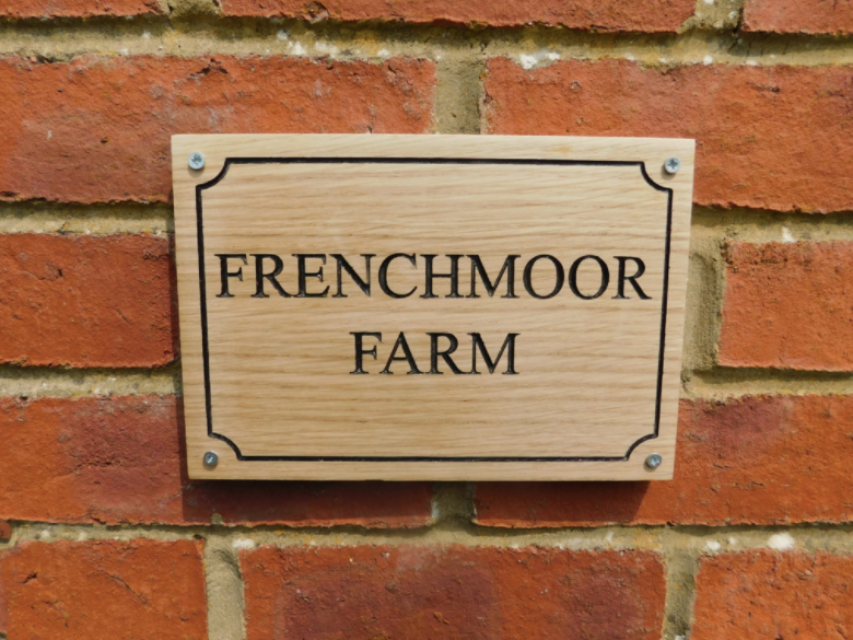 Personalised Oak Entrance Gate Sign