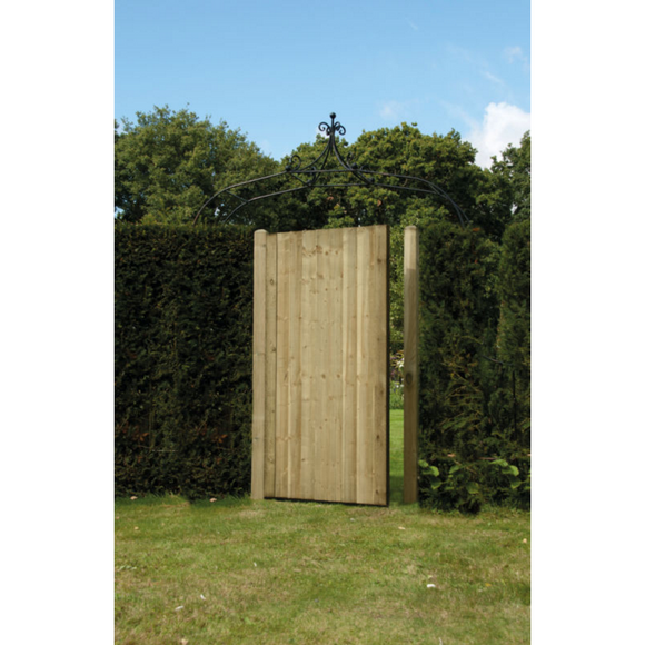 Featheredge Garden Gate (Green/Brown) - Ruby UK
