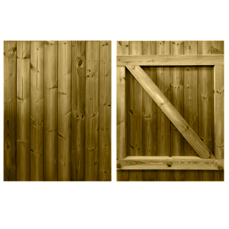 Tongue & Groove Flat Top Gate