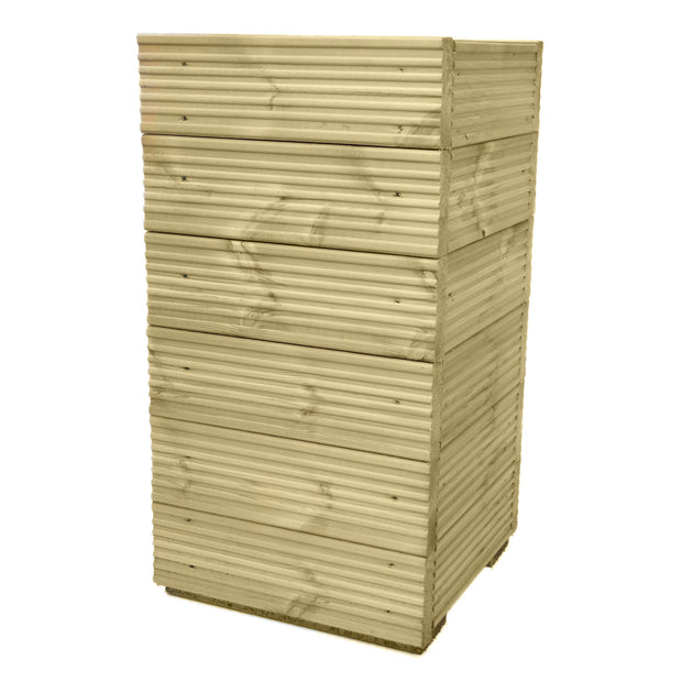Tall Large Decking Wooden Square Garden Planters - 0.77m / 1.01m High - Ruby UK