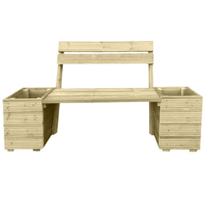 Planter & Bench Combination With Backrest - Ruby UK