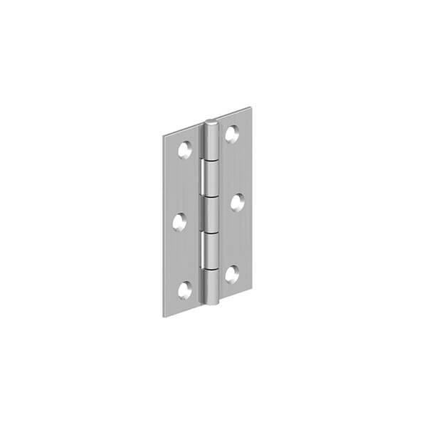 Pair of Butt Hinges- Zinc Plated - Ruby UK