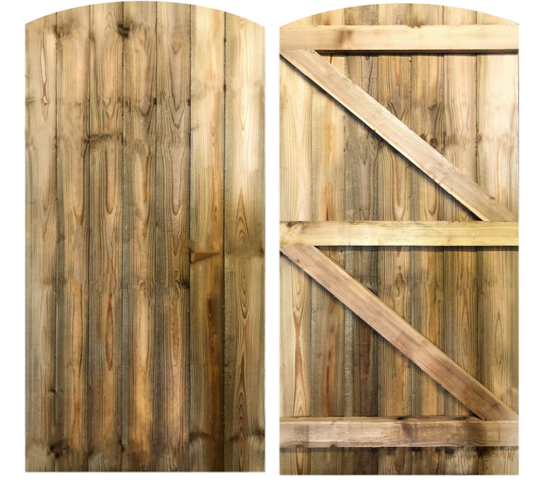 Curved Featheredge Side Gate