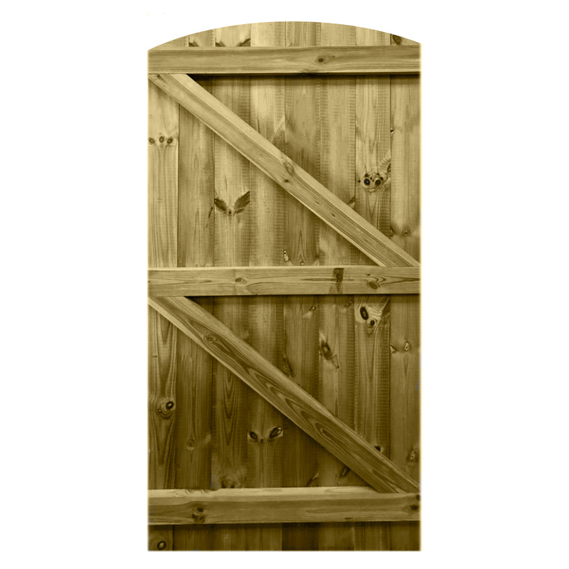 Curved Framed Tongue & Groove Side gate