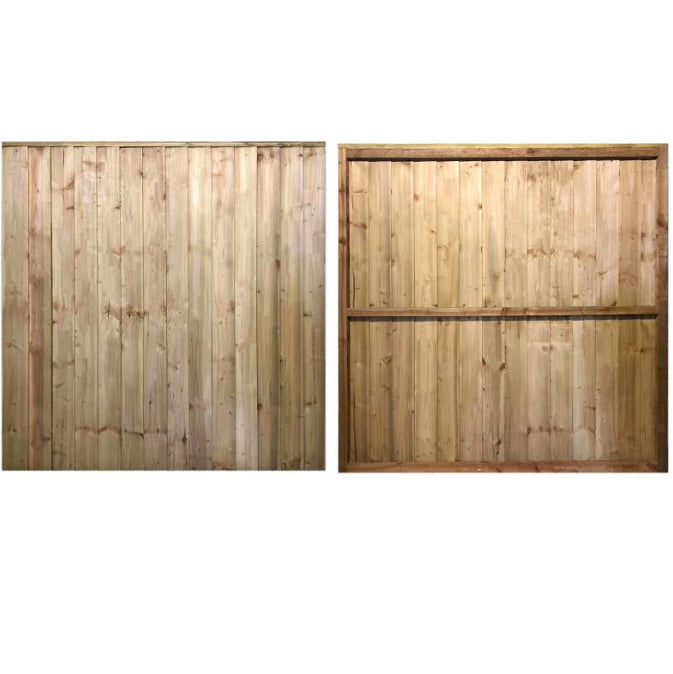 Premium Featheredge Pressure Treated Fence Panels