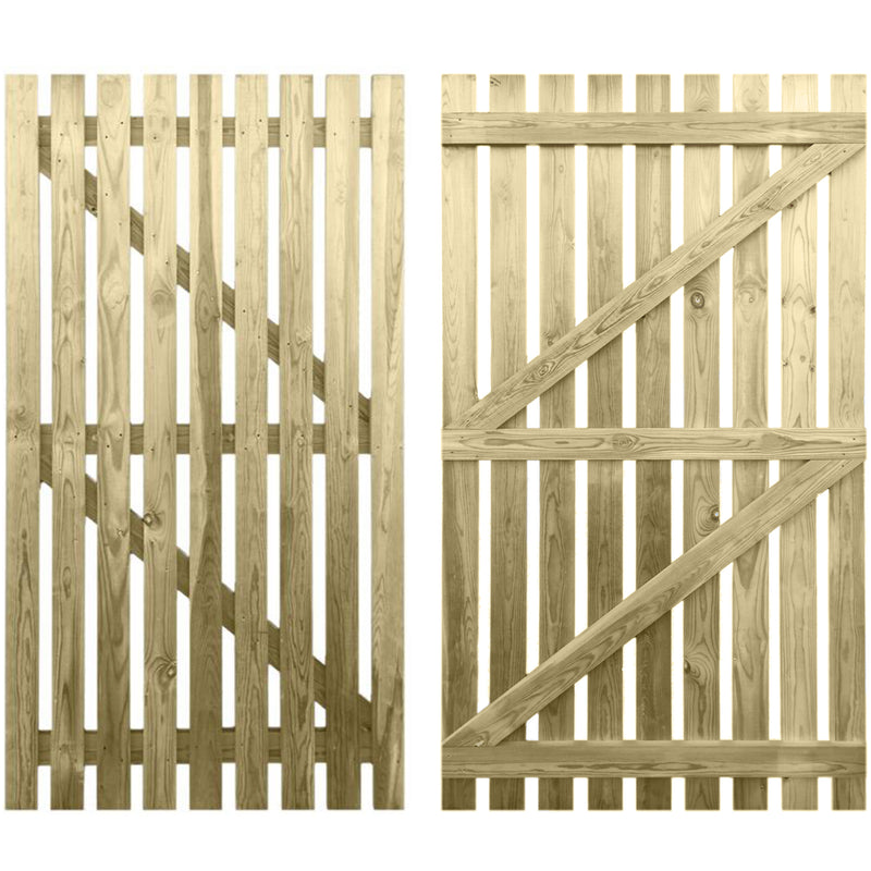 6ft x 3ft Picket Gate Flat Top