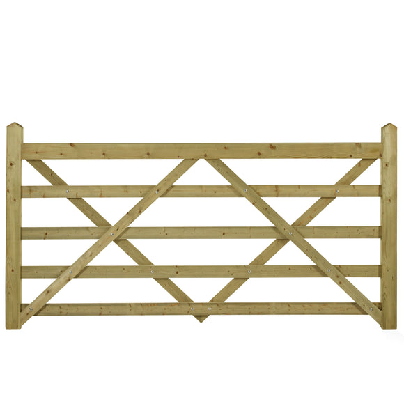 Planed 5 Bar Field or Entrance Gate