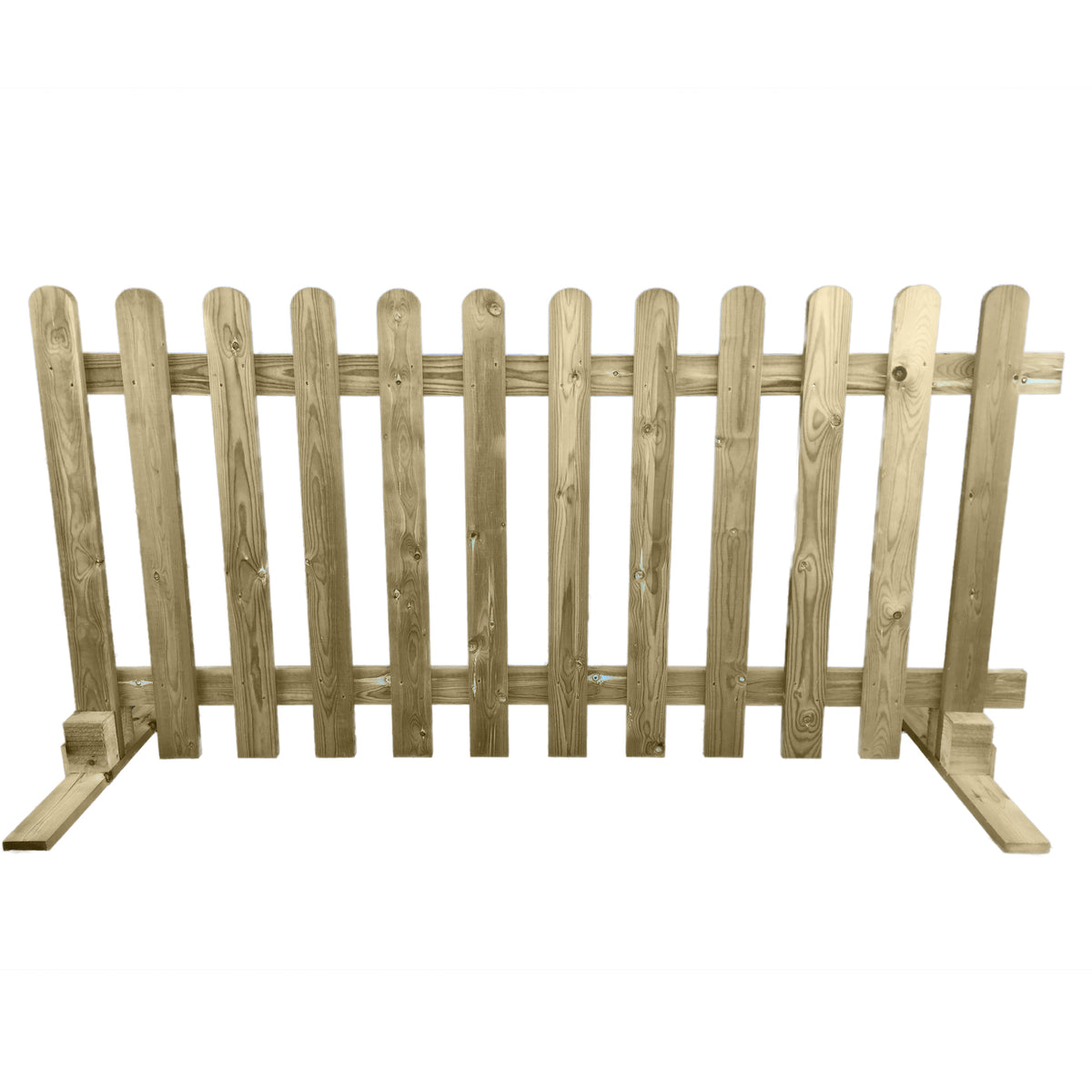 Free Standing Trellis: Portable Freestanding Picket Fence Panel Wooden 6ft