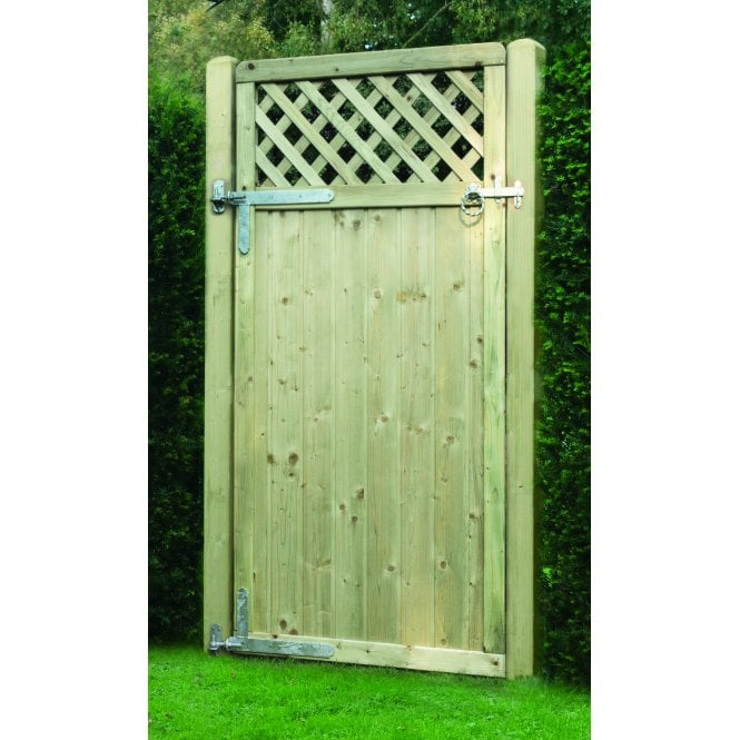 Tongue and Groove Lattice Top Gate