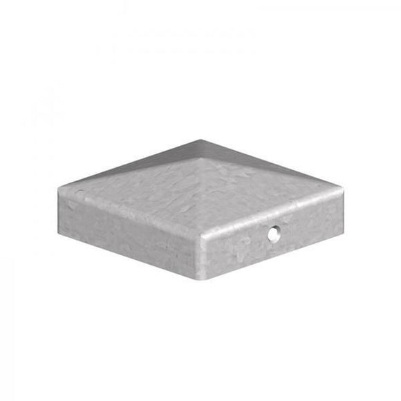 100mm Pyramid Galvanised Post Caps - Ruby UK