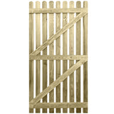 6ft x 3ft Picket Gate Round Top - Ruby UK