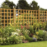 Hand-Made Heavy Duty Square Trellis Panel - Ruby UK