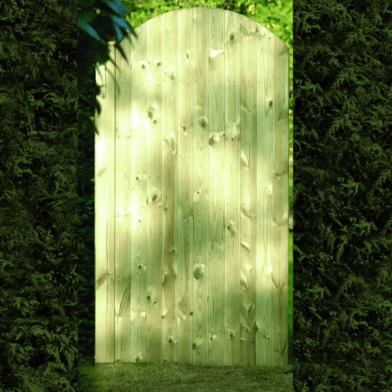 Tongue and Groove Arched Top Gate