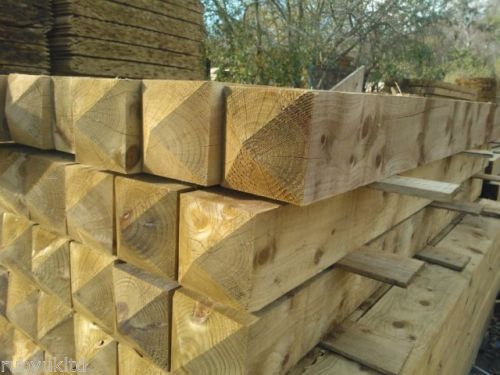 Treated Wooden Gate Posts
