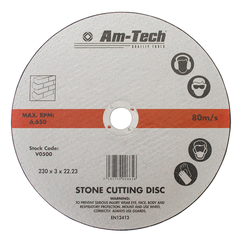"230mm (9"") Stone Cutting Disc - Pipe Station"