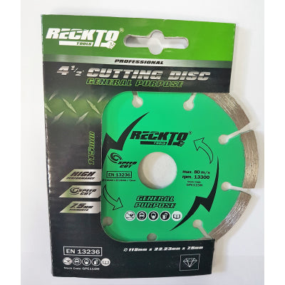 "4 1/2"" General Purpose Cutting Disc - Plastic Plumb"