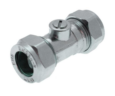 Isolating Valve Chrome Plated - Plastic Plumb