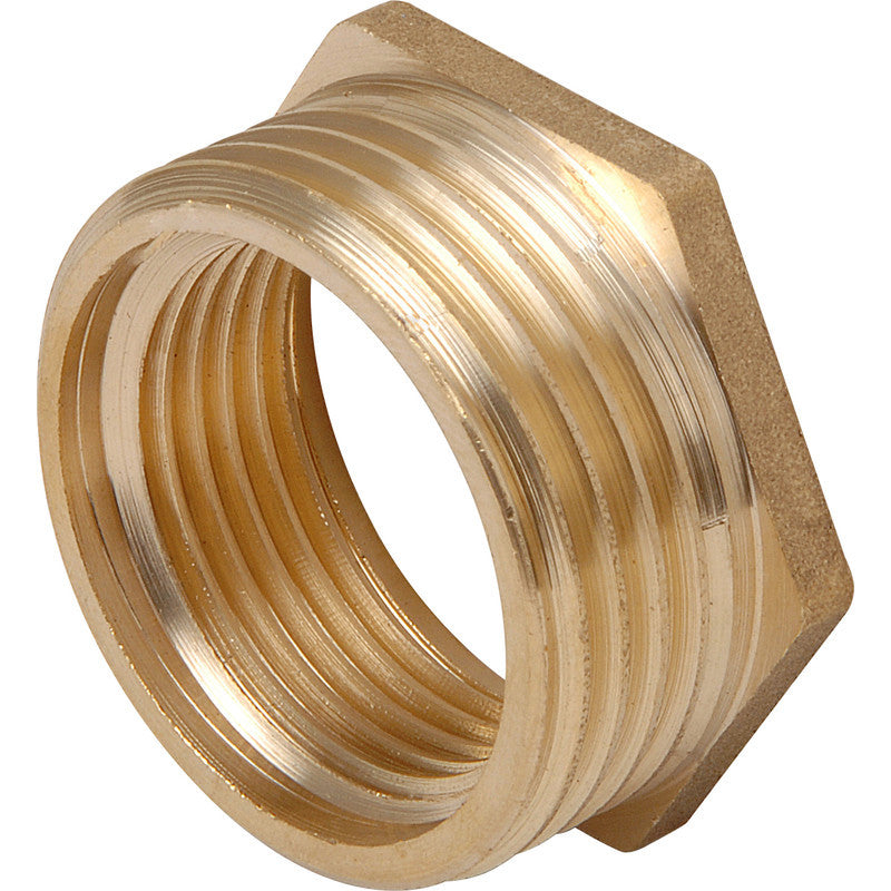 Brass Hexagon Bush - Plastic Plumb