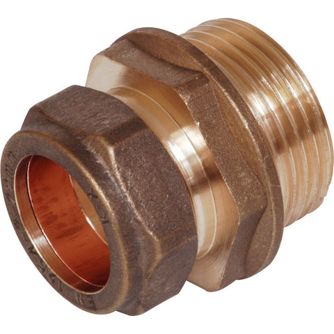 Compression Coupler Male - Plastic Plumb